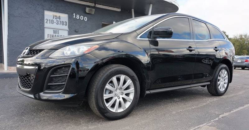 2011 MAZDA CX-7 I SPORT 4DR SUV black call 1-754-210-3703 for sales this vehicle runs great