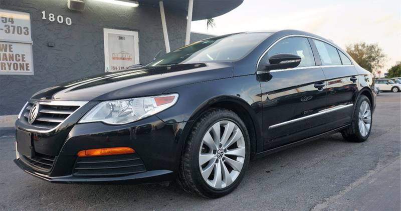 2012 VOLKSWAGEN CC SPORT PZEV 4DR SEDAN 6A black call 1-754-210-3703 for sales this vehicle fu