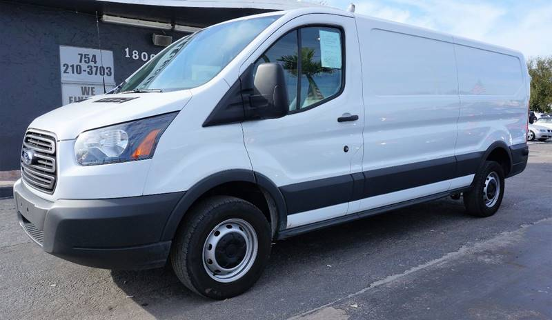2016 FORD TRANSIT CARGO 250 3DR LWB LOW ROOF CARGO VAN W white call 1-754-210-3703 for sales