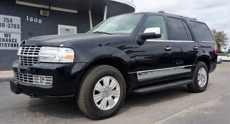 2007 LINCOLN NAVIGATOR LUXURY 4DR SUV black clearcoat 373 rear axle ratiopremium leather trimme