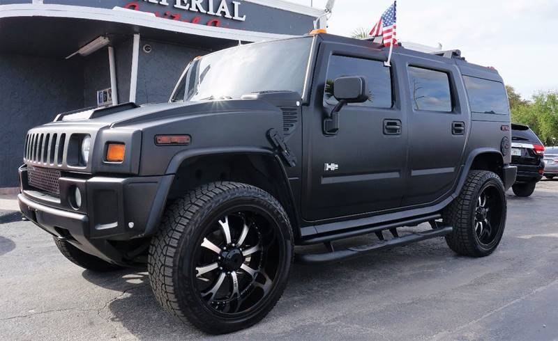 2005 HUMMER H2 LUX SERIES 4WD 4DR SUV black brush guard - front trailer hitch brush guard runn