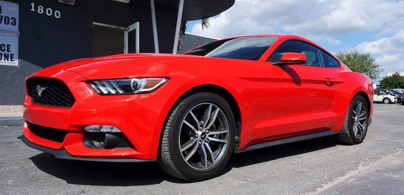 2016 FORD MUSTANG ECOBOOST PREMIUM 2DR FASTBACK red leather bucket seatsamfm stereo wsingle cd