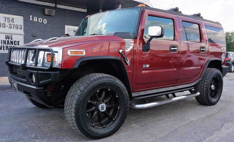 2005 HUMMER H2 BASE 4WD 4DR SUV red metallic 410 rear axle ratiofront reclining bucket seatsle