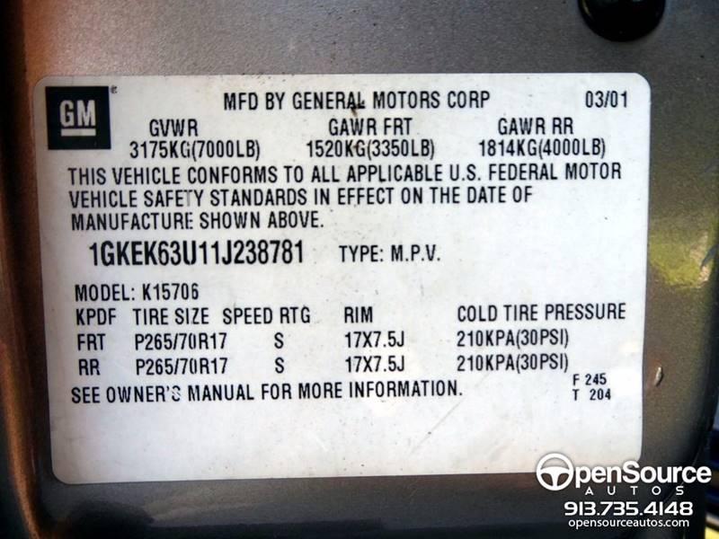 2001 GMC Yukon AWD Denali 4dr SUV - Mission KS