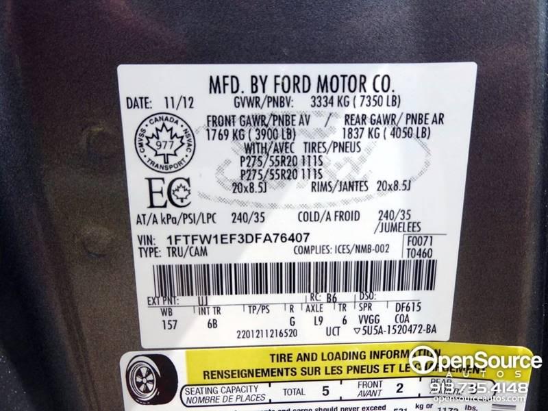2013 Ford F-150 4x4 FX4 4dr SuperCrew Styleside 6.5 ft. SB - Mission KS