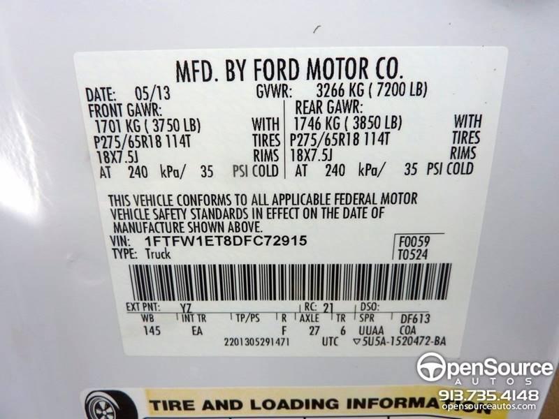 2013 Ford F-150 4x4 Lariat 4dr SuperCrew Styleside 5.5 ft. SB - Mission KS