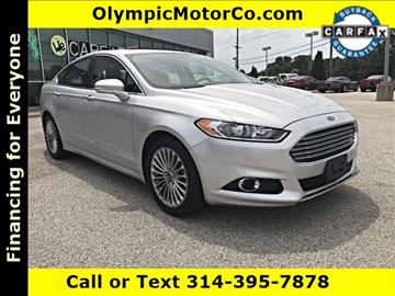 2013 Ford Fusion for sale at OLYMPIC MOTOR CO in Florissant MO