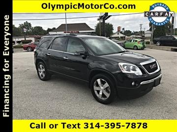 2011 GMC Acadia for sale at OLYMPIC MOTOR CO in Florissant MO