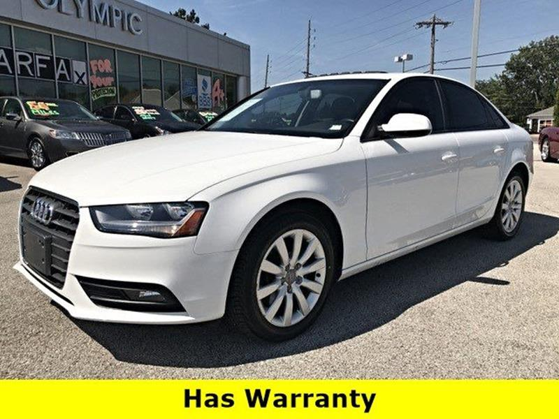 2014 Audi A4 for sale at OLYMPIC MOTOR CO in Florissant MO