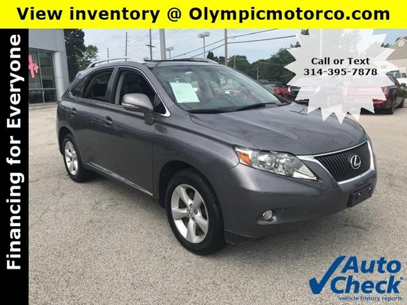 2012 Lexus RX 350 For Sale At OLYMPIC MOTOR CO In Florissant MO