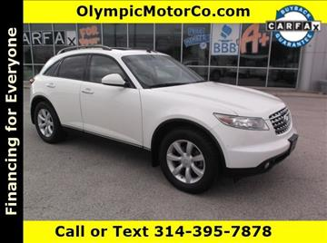 2004 Infiniti FX35 for sale at OLYMPIC MOTOR CO in Florissant MO