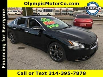 2013 Nissan Maxima for sale at OLYMPIC MOTOR CO in Florissant MO