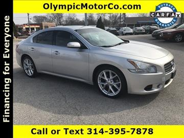 2009 Nissan Maxima for sale at OLYMPIC MOTOR CO in Florissant MO
