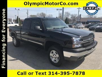 2005 Chevrolet Silverado 1500 for sale at OLYMPIC MOTOR CO in Florissant MO
