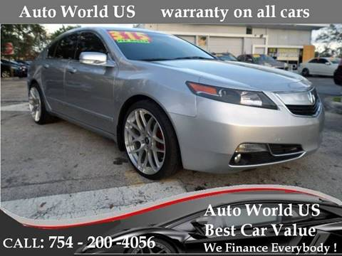 2013 Acura TL for sale in Plantation, FL