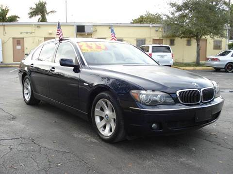 2007 BMW 7 Series for sale at Auto World US Corp in Plantation FL