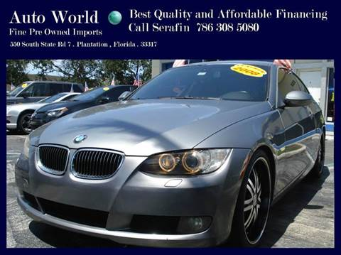 2008 BMW 3 Series for sale at Auto World US Corp in Plantation FL