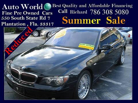 2006 BMW 7 Series for sale at Auto World US Corp in Plantation FL