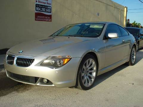 2007 BMW 6 Series for sale at Auto World US Corp in Plantation FL