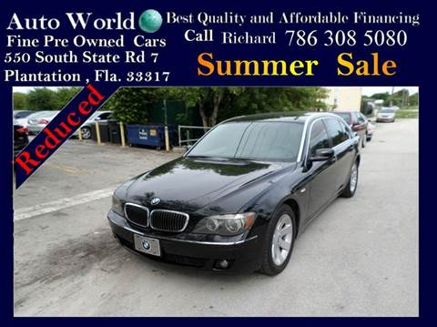 2008 BMW 7 Series for sale at Auto World US Corp in Plantation FL