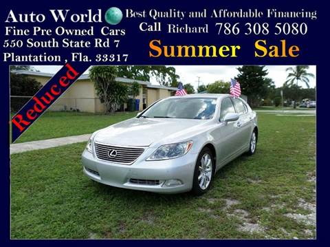 2008 Lexus LS 460 for sale at Auto World US Corp in Plantation FL