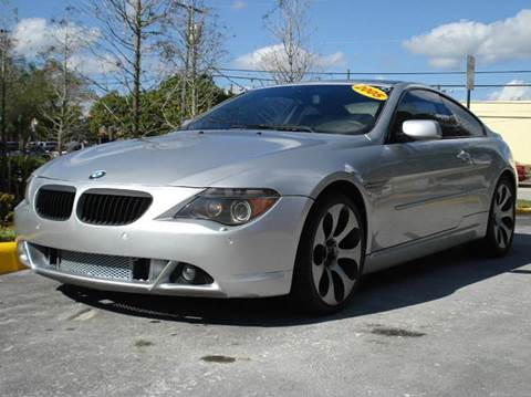 2005 BMW 6 Series for sale at Auto World US Corp in Plantation FL