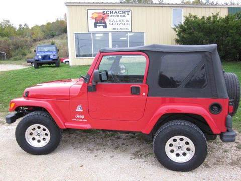 2003 Jeep Wrangler for sale at SCHACHT MOTOR CO in Decorah IA