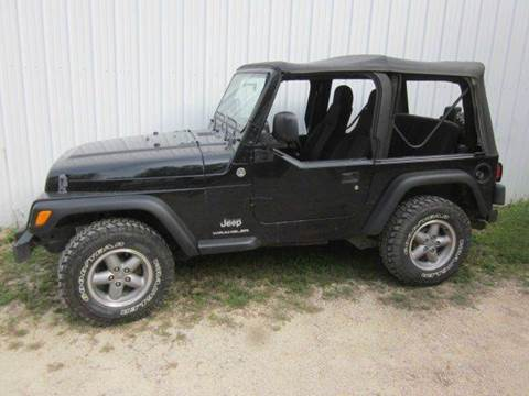 2006 Jeep Wrangler for sale at SCHACHT MOTOR CO in Decorah IA