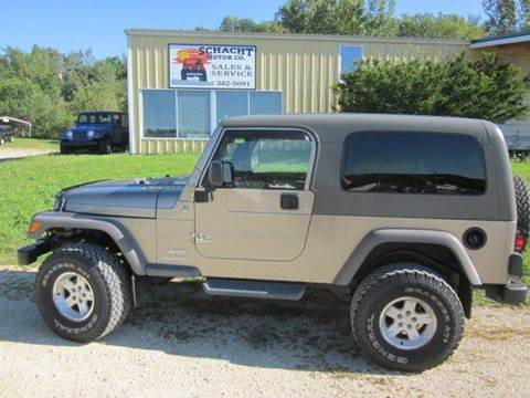 2005 Jeep Wrangler for sale at SCHACHT MOTOR CO in Decorah IA