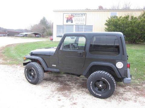 2000 Jeep Wrangler for sale at SCHACHT MOTOR CO in Decorah IA