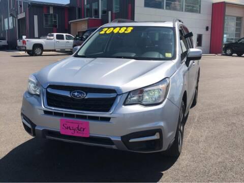 2017 Subaru Forester for sale at Snyder Motors Inc in Bozeman MT