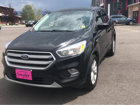 2017 Ford Escape for sale at Snyder Motors Inc in Bozeman MT