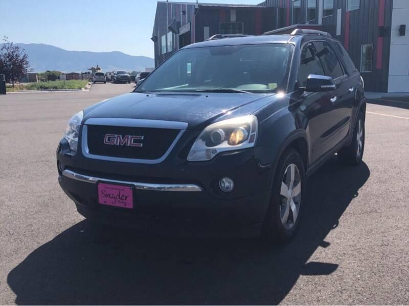 2012 GMC Acadia for sale at Snyder Motors Inc in Bozeman MT