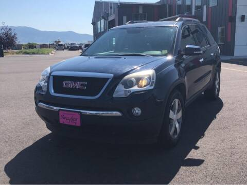 2012 GMC Acadia for sale at Snyder Motors Inc in Bozeman MT