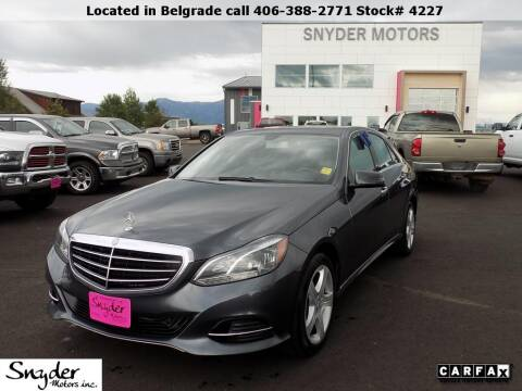 2014 Mercedes-Benz E-Class for sale at Snyder Motors Inc in Bozeman MT