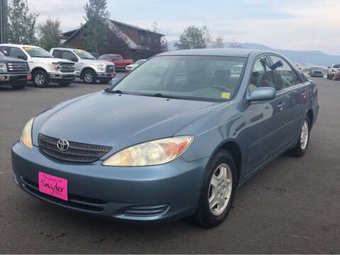 2002 Toyota Camry for sale at Snyder Motors Inc in Bozeman MT