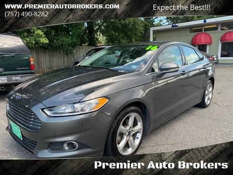 2016 Ford Fusion for sale at Premier Auto Brokers in Virginia Beach VA