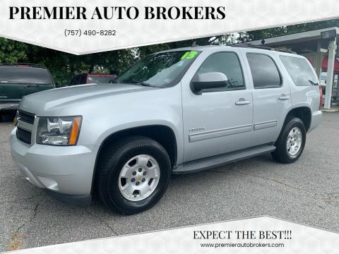 2013 Chevrolet Tahoe for sale at Premier Auto Brokers in Virginia Beach VA