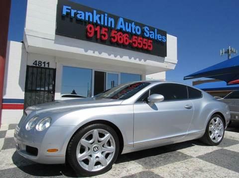 2006 Bentley Continental GT for sale at Franklin Auto Sales in El Paso TX