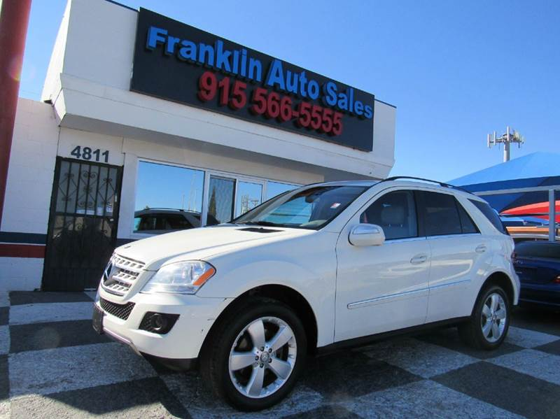 2010 Mercedes Benz M Class For Sale At Franklin Auto Sales In El Paso