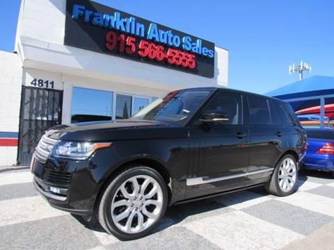 2015 Land Rover Range Rover for sale at Franklin Auto Sales in El Paso TX