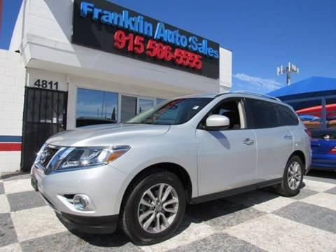 2016 Nissan Pathfinder for sale at Franklin Auto Sales in El Paso TX