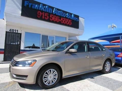 2015 Volkswagen Passat for sale at Franklin Auto Sales in El Paso TX