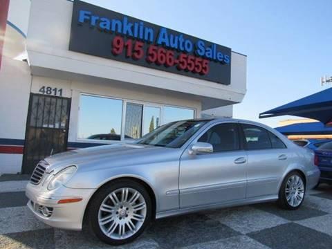 2008 Mercedes-Benz E-Class for sale at Franklin Auto Sales in El Paso TX