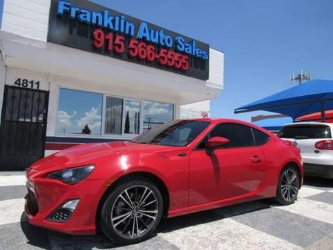 2015 Scion FR-S for sale at Franklin Auto Sales in El Paso TX