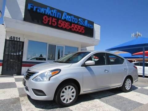 2016 Nissan Versa for sale at Franklin Auto Sales in El Paso TX