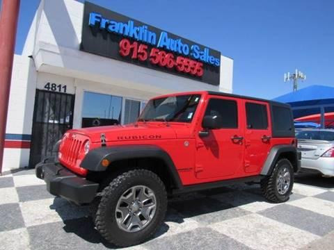 Jeep El Paso >> Jeep Wrangler For Sale In El Paso Tx Franklin Auto Sales