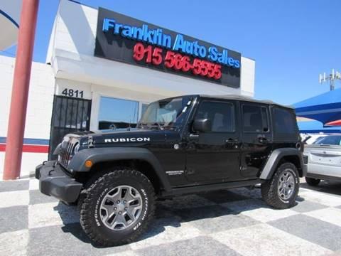 2014 Jeep Wrangler Unlimited for sale at Franklin Auto Sales in El Paso TX