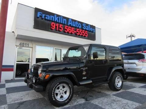 2000 Jeep Wrangler for sale in El Paso, TX