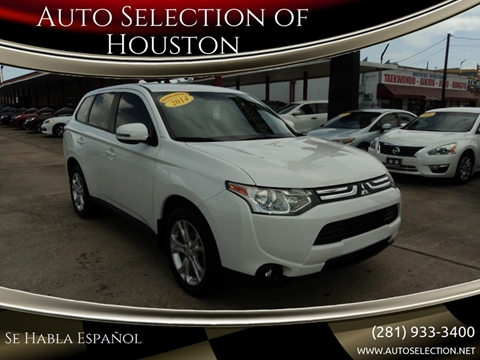 2014 Mitsubishi Outlander for sale at Auto Selection of Houston in Houston TX